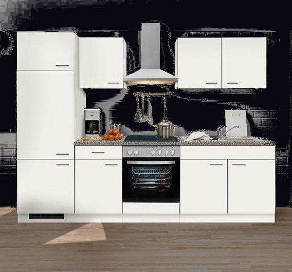 Einbauküche MANKAWHITE 2 Küche Küchenzeile 270 cm mit E-Geräte