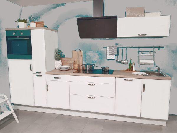Einbauküche MANKASOLAR 13 Weiß Küchenzeile 360 cm mit E-Geräte