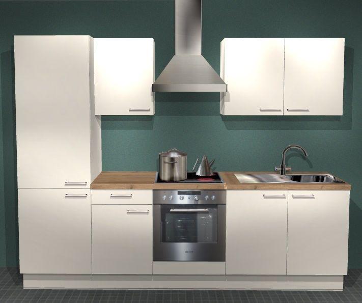 Einbauküchen - Einbauküche MANKABETA 3 Magnolie Küche Küchenzeile 270 cm Küchenblock ohne E ...  - Onlineshop Manka Möbel